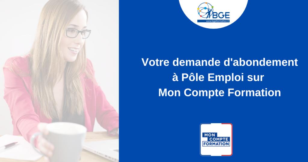 Actualité Mon compte formation - Abondement Pole emploi - BGESO